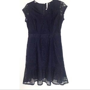 NY Collection Petite Navy Lace Dress